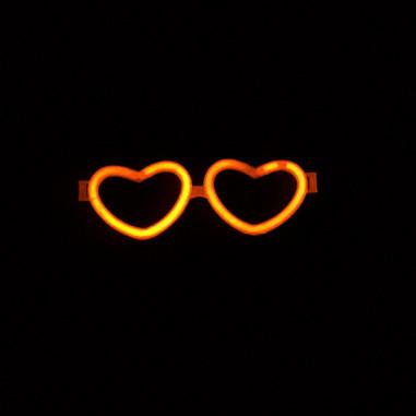 Lunettes Fluo Coeur