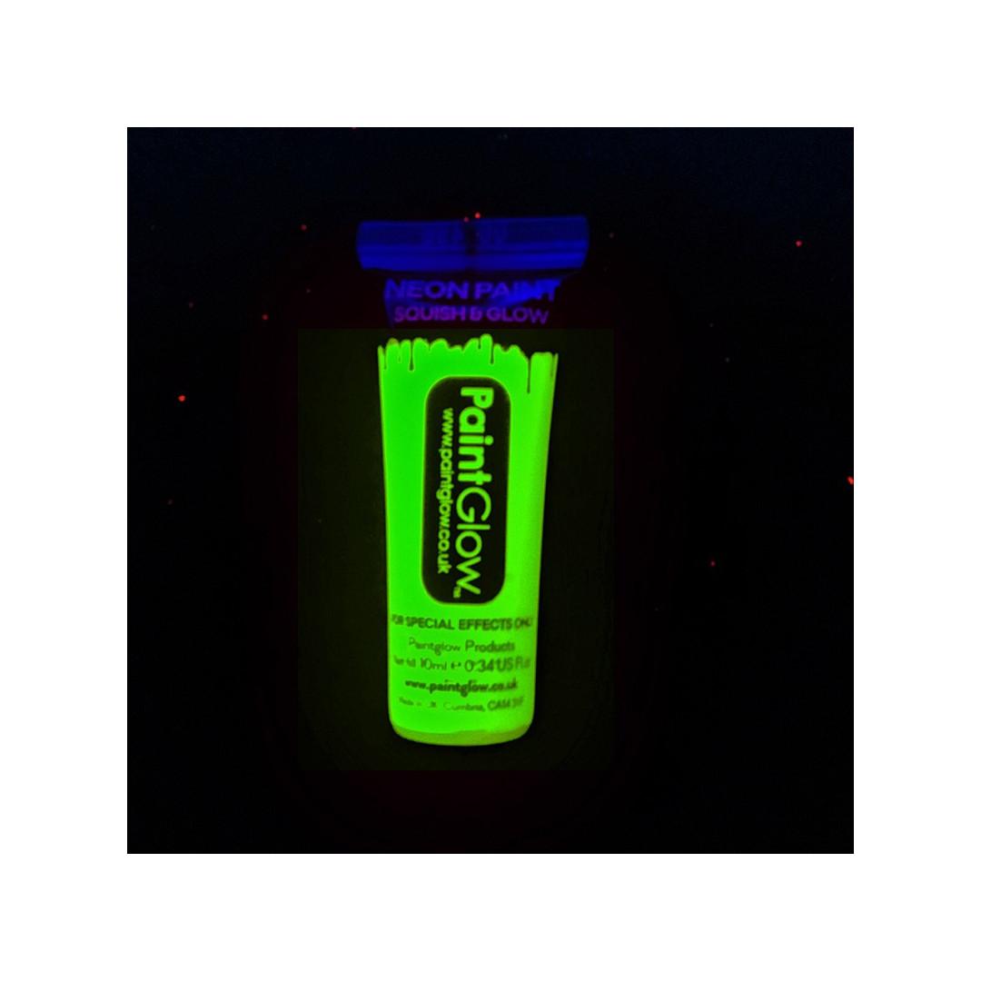 Peinture fluo corps et visage tube de 10 ml couleur de nuit - Peinture phosphorescente corps ...