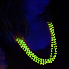 Lot de 3 Colliers en Perles Fluo