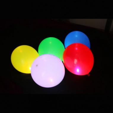 Ballons Lumineux assortis - Lot de 5