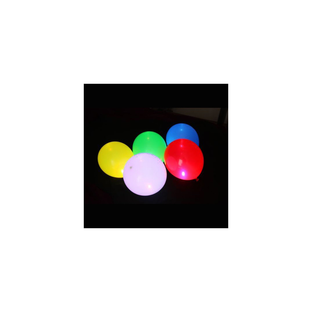 ballon lumineux multicolores led gonflables lot de 5 couleur de nuit. Black Bedroom Furniture Sets. Home Design Ideas