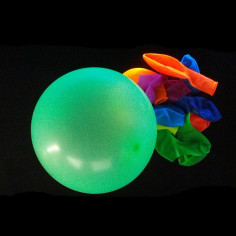 Ballon Fluo Multicolore - Lot de 50