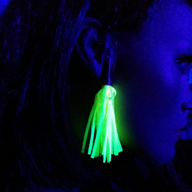 Boucles d'Oreilles Fluo à Frange