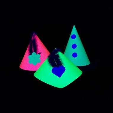 Mini Chapeaux Fluo - Lot de 5