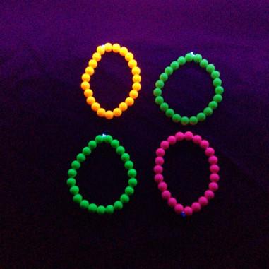 Bracelet en Perle Fluo - Lot de 4