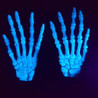 Gants de Squelette Phosphorescents