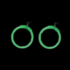 Boucles d'Oreilles Fluo rondes