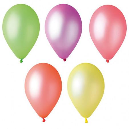 Ballon Fluo Multicolore - Lot de 50