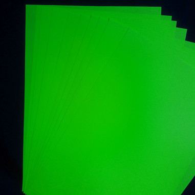 Papier Fluo A4 - Lot de 10 Feuilles