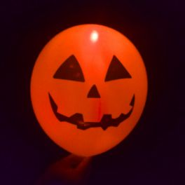 Ballons Lumineux Citrouille enragée Halloween