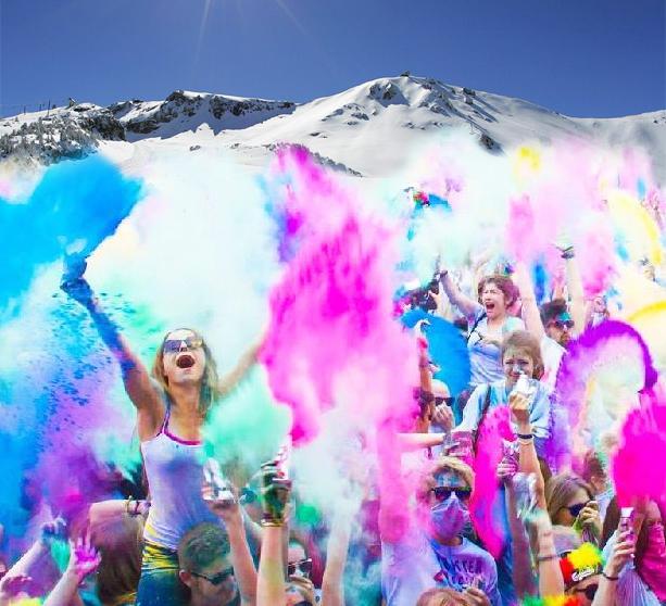 ski poudre coloré