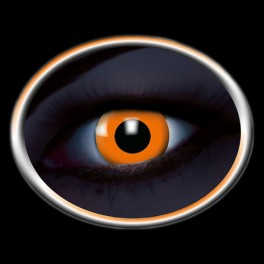 lentilles-fluo-orange-halloween