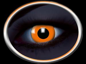 lentilles-fluorescente-orange-halloween