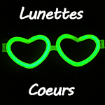Lunettes lumineuses coeur