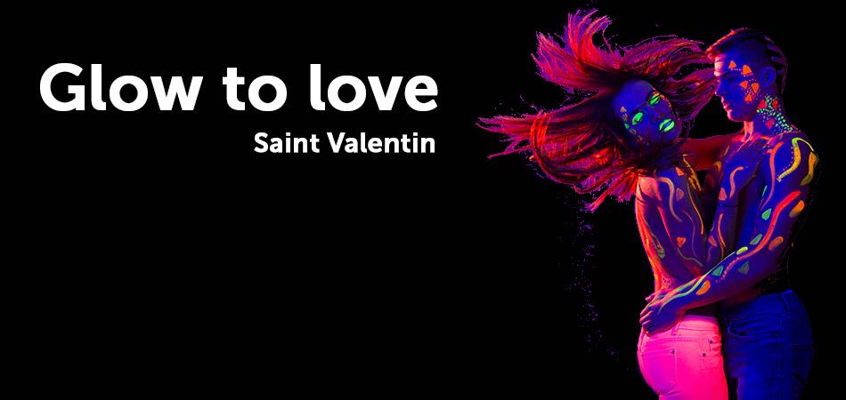 Saint Valentin Fluo