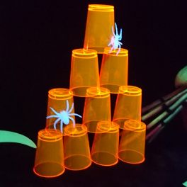 Verres Fluo Orange Halloween
