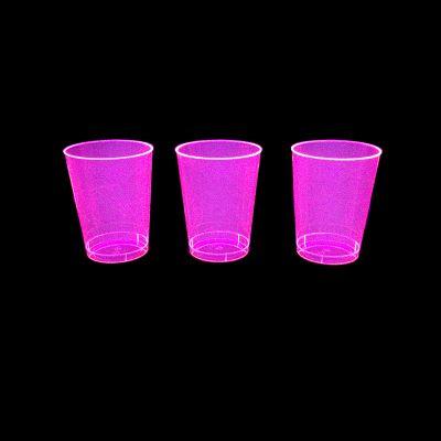 verres fluo roses