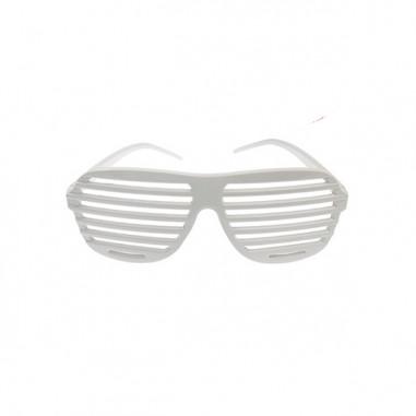 Weiße gestreifte Brille