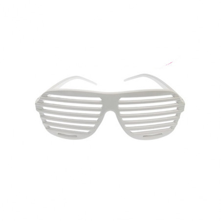 Lunettes Striées Fluo Blanches