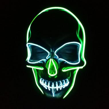 Neon Led Schädelmaske