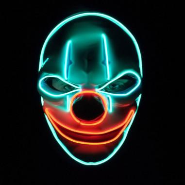Neon Led Clown Maske