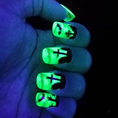 Faux-Ongles Fluo Halloween - Lot de 12