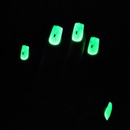 Faux-Ongles Phospho Araignées - Lot de 12