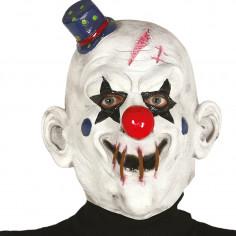 Maske Clown aus Latex mit Hut