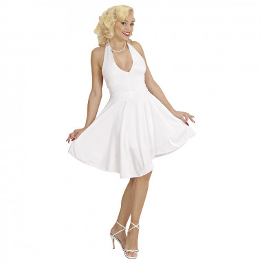 Robe Fluo Blanche Marylin