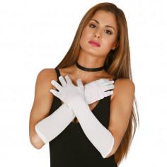 Handschuhe Neon Weiß Lange