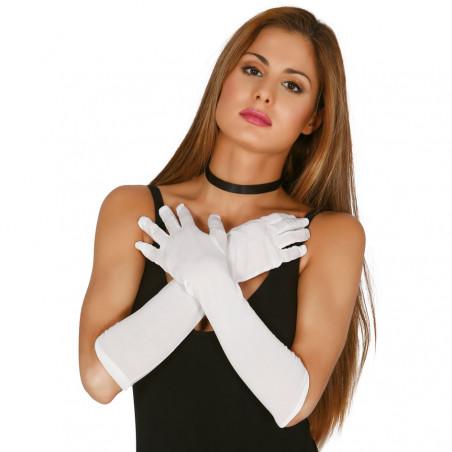 Gants Blancs Fluo Longs