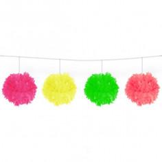 Girlande Neon Pom Pom