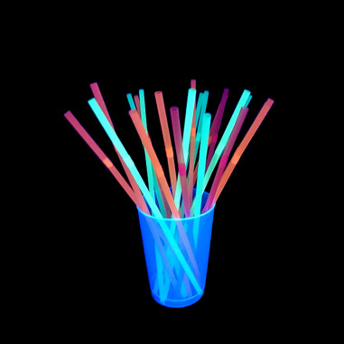 Pailles Fluorescentes Multicolores - Lot de 40