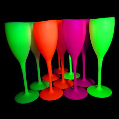 Flûte à Champagne Fluo Luxy - Lot de 2
