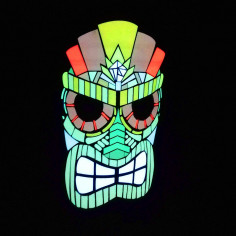Masque Led Sound Control Tiki