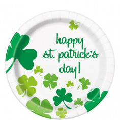 Assiettes en Carton St Patrick - Lot de 8