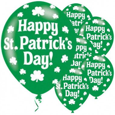 Ballon St Patrick - Lot de 6