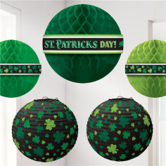 Susoension & Lanterne St Patrick - Lot de 5