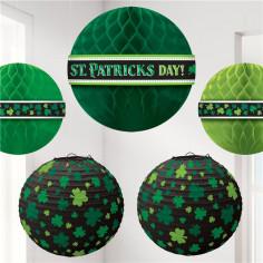 Suspension & Lanterne St Patrick - Lot de 5