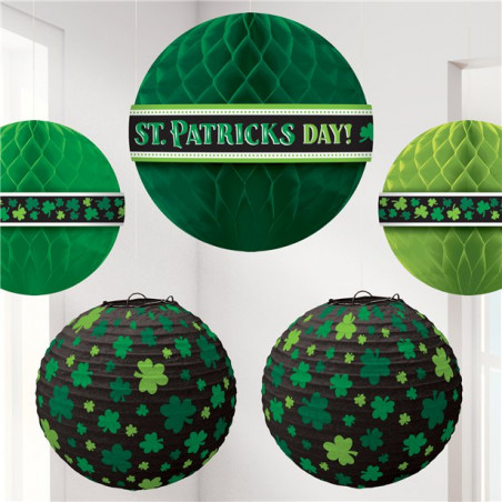 Suspension & Lanterne St Patrick - Lot de 5