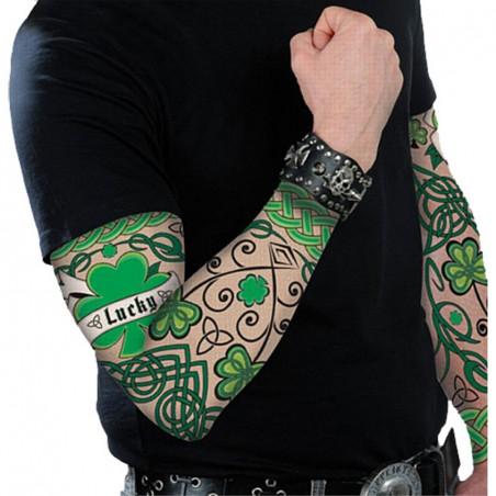 Manche Tatouage St Patrick - Lot de 2