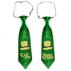 St. Patrick's Day Pailletten Krawatte