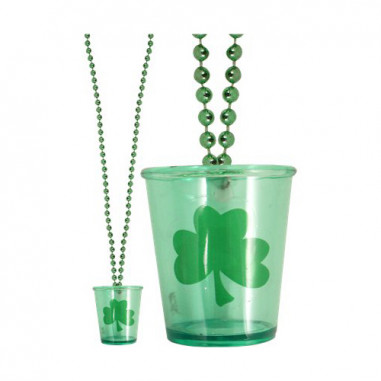 St Patrick Shoot Glas Halskette