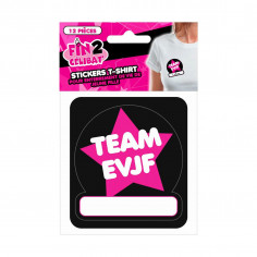 Stickers Team EVJF pour T-shirt - Lot de 12