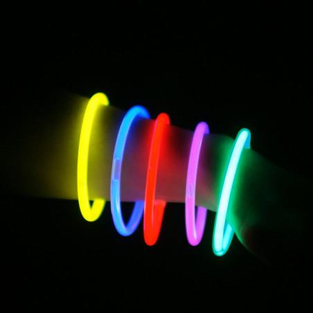 50 x Bracelet Fluo Multicolore - Lot de 100