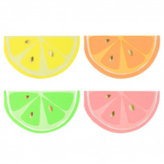 Serviettes en Papier Fluo Summer - Lot de 16