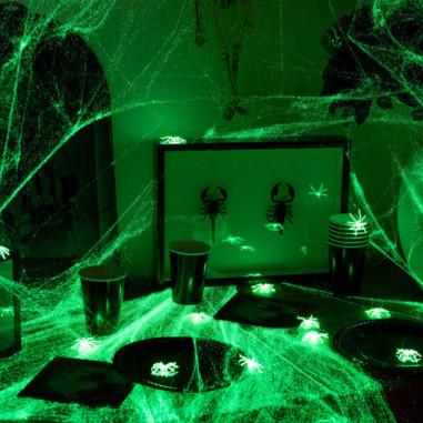 Im Dunkeln leuchten Spinnennetz 500g