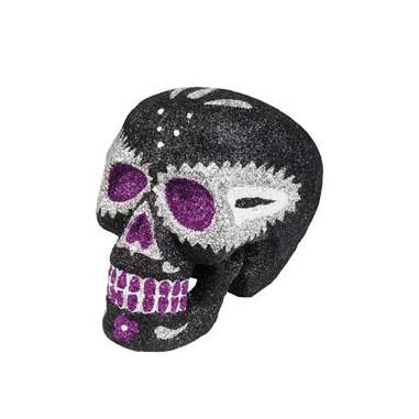 Crâne Dia De Los Muertos Noir