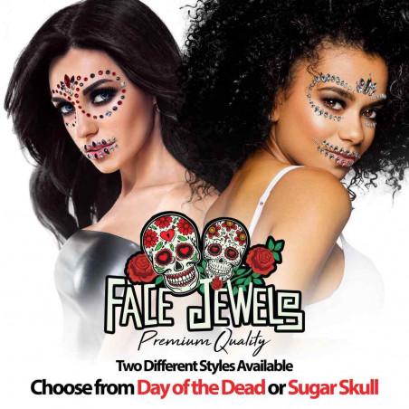 Face Jewels Dia de los Muertos