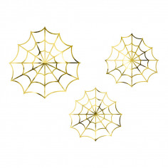 Toiles d'Araignée Dorées